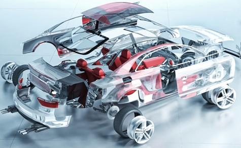 Exploded 3D Car